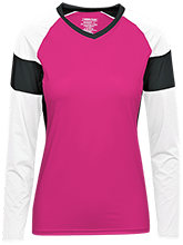 Saint John The Baptist School Lions Womens LS Colorblock Performance Jersey