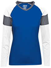 Van Meter High School Bulldogs Womens LS Colorblock Performance Jersey