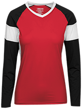 Design yours Football Womens LS Colorblock Performance Jersey
