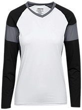 Dock Mennonite Academy Womens LS Colorblock Performance Jersey