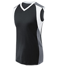 Berry Intermediate Warriors Womens V-Neck Sleeveless Uniform Jersey