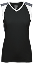 Topeka High School Trojans Womens V-Neck Sleeveless Uniform Jersey