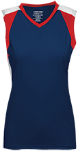 North Sunflower Athletics Womens V-Neck Sleeveless Uniform Jersey