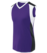 Rumson-Fair Haven H S Bulldogs Womens V-Neck Sleeveless Uniform Jersey