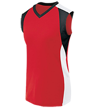 Remus Elementary School Warriors Womens V-Neck Sleeveless Uniform Jersey