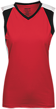 Red Mesa High School Redskins Womens V-Neck Sleeveless Uniform Jersey