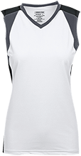 Noank Elementary School Sailboats Womens V-Neck Sleeveless Uniform Jersey