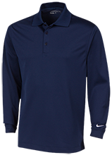 Flanders Elementary School Rams Nike Long Sleeve Polo