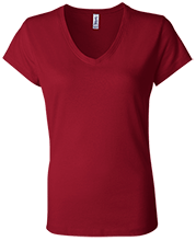 Football Bella+Canvas Ladies Jersey V-Neck T-Shirt