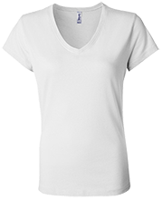 Shepherd Of The Valley Lutheran Bella+Canvas Ladies Jersey V-Neck T-Shirt