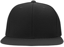 School Flat Bill Twill Flexfit Cap
