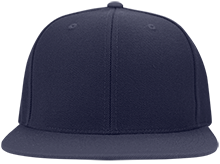 Burgettstown  High School Blue Devils Flat Bill Twill Flexfit Cap