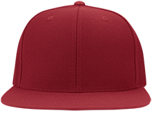 Clinton Prairie High School Gophers Flat Bill Twill Flexfit Cap