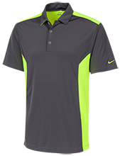 Mesa Middle School Panthers Nike Golf Dri-Fit Colorblock Mesh Polo