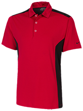 Vernon E Greer Middle School Mustangs Nike Golf Dri-Fit Colorblock Mesh Polo