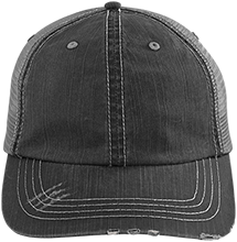 Accounting Distressed Unstructured Trucker Cap