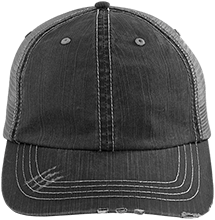 Aids Research Distressed Unstructured Trucker Cap