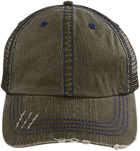 Grace Baptist Academy Conquerors Distressed Unstructured Trucker Cap
