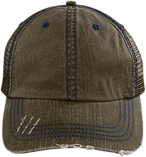 German American School Of San Francisco School Distressed Unstructured Trucker Cap