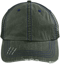 Rolland Warner Middle School Lightning Distressed Unstructured Trucker Cap
