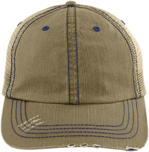 Burgettstown  High School Blue Devils Distressed Unstructured Trucker Cap
