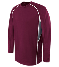 Berry Intermediate Warriors Adult Long Sleeve Wicking Jersey