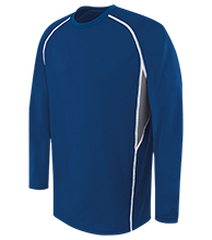 Bay Port High School Pirates Adult Long Sleeve Wicking Jersey