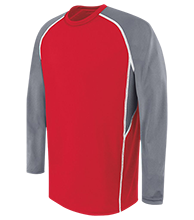 Bay View High School Redcats Adult Long Sleeve Wicking Jersey