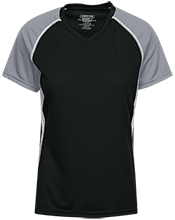 Topeka High School Trojans Ladies SS Raglan Dri-Gear Wicking Jersey