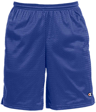 Alpha Elementary Mustangs Champion 9-inch Mesh Short with Pockets