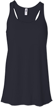 Lansing Eastern High School Quakers Bella+Canvas Flowy Racerback Tank