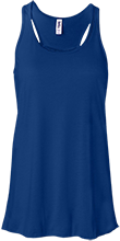 Wellington Junior High School Blue Kights Bella+Canvas Flowy Racerback Tank