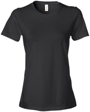 Manchester East Soccer Anvil Ladies Lightweight Tshirt 4.5 oz