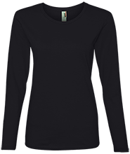 Manchester East Soccer Anvil Ladies Lightweight LS Tshirt