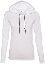 Grace Christian School Patriots Ladies LS T-Shirt Hoodie