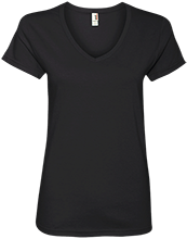 Leonhard Elementary School Leopards Ladies V-Neck T-Shirt