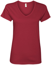 Bucyrus Middle School Redmans Ladies V-Neck T-Shirt