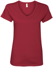 Calvary Baptist Christian High Cougars Ladies V-Neck T-Shirt