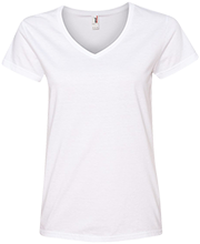 Daniel D Waterman Elementary School Waterdroplets Ladies V-Neck T-Shirt