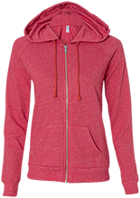 Whitwell High School Tigers Alternative Ladies French Terry Full Zip