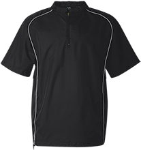 Cain Middle School Mustangs Short Sleeve 1/4 zip Wind Shirt