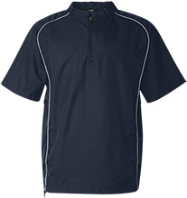 Linden Hall School Lions Short Sleeve 1/4 zip Wind Shirt