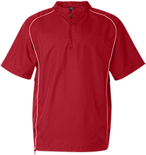 Bellefontaine Middle School Chieftain Short Sleeve 1/4 zip Wind Shirt