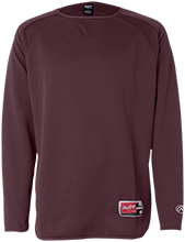 Pascagoula Opportunity Center Indians Rawlings® Flatback Mesh Fleece Pullover