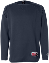 La Merced Intermediate School Trojans Rawlings® Flatback Mesh Fleece Pullover