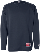 Lansing Eastern High School Quakers Rawlings® Flatback Mesh Fleece Pullover
