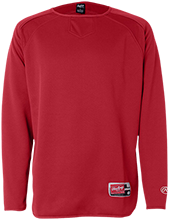 Brixner Junior High School Bears Rawlings® Flatback Mesh Fleece Pullover