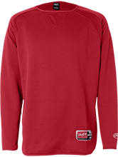 Meskwaki High School Warriors Rawlings® Flatback Mesh Fleece Pullover