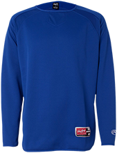 Bixby North Elementary Spartans Rawlings® Flatback Mesh Fleece Pullover