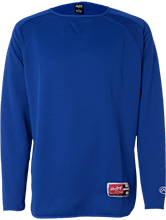 Farms Middle School Eagles Rawlings® Flatback Mesh Fleece Pullover